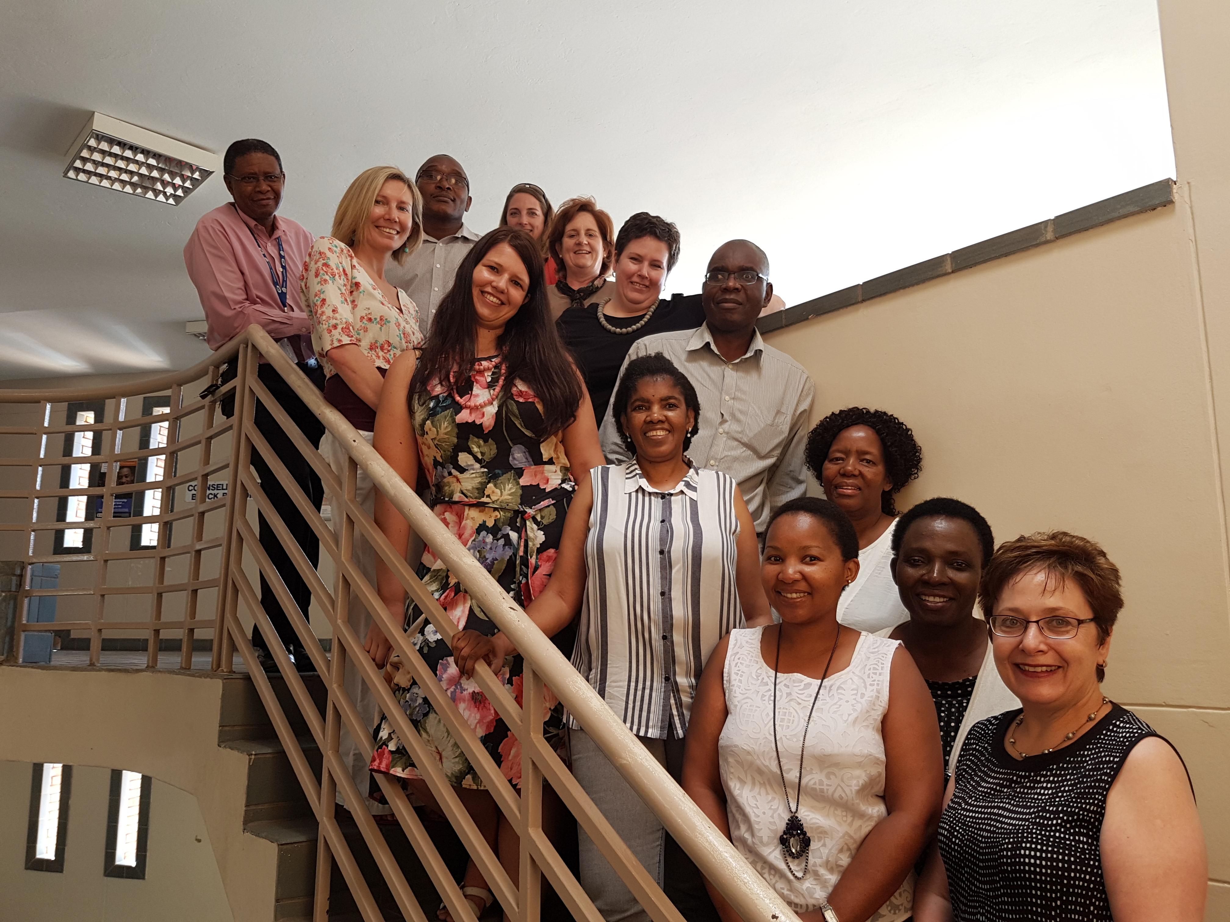 Team meeting at Mafikeng Campus