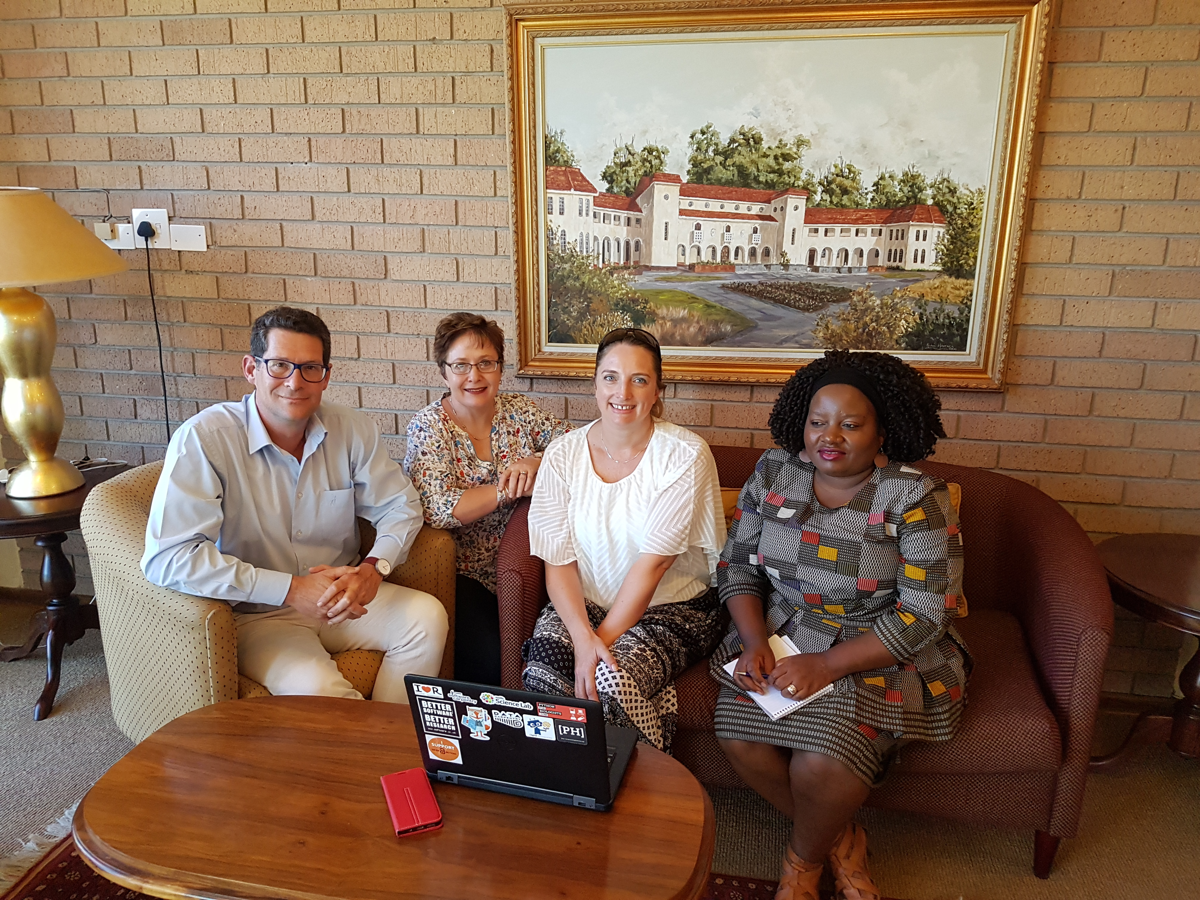 Team meeting at Vaal Triangle Campus